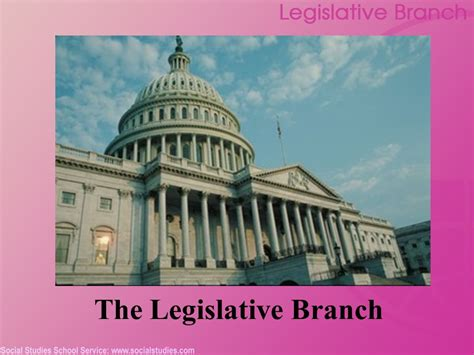 What Are The Two Houses Of The Legislative Branch by The Legislative Branch Ppt