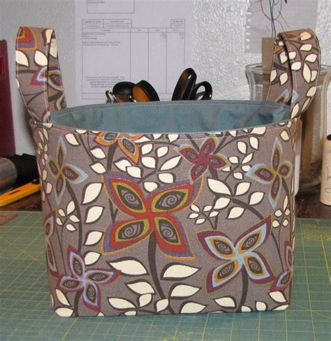 pattern fabric storage basket pin by edita greer on all stitched up pinterest