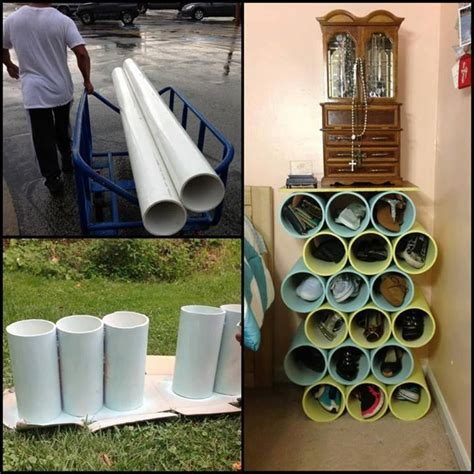 Pvc Shoe Rack by From Pvc Pipe To Shoe Rack Decoration