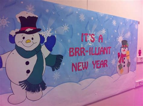 new year teaching ideas quot it s a brr illiant new year quot new years bulletin board idea