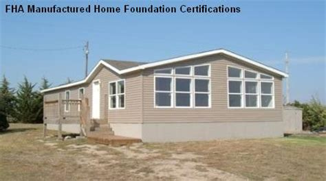 modular home foundation deccio fha