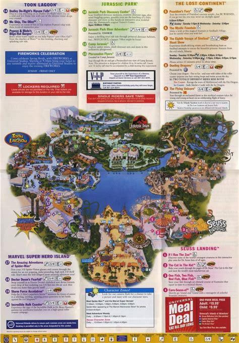 adventure map theme park brochures islands of adventure theme park brochures