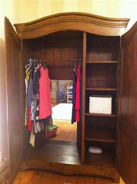 Real Wardrobe by Awesome Narnia Wardrobe Leads To A Secret Room Complete With