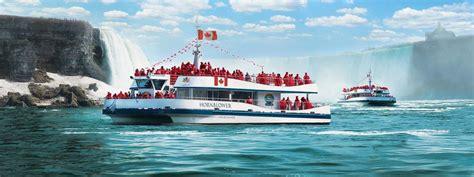 niagara falls boat tour times voyage to the falls boat tour hornblower niagara cruises