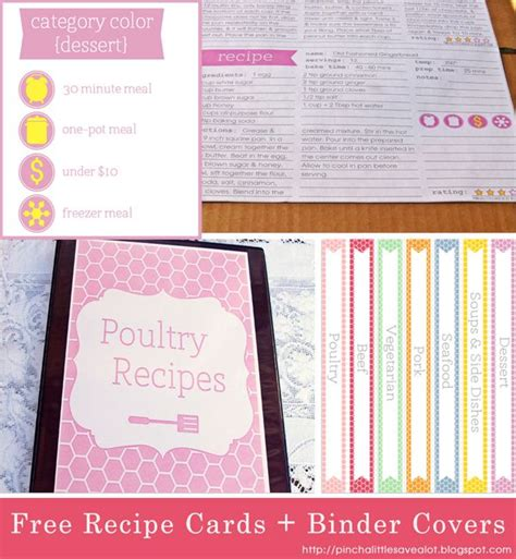 recipe binder templates 17 best images about recipe binder ideas on
