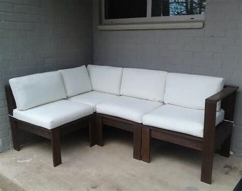 Diy Outdoor Sofa Sectional by Simple Modern Outdoor Sectional Diy Outdoor Furniture Tutorials Outdoor Sectional