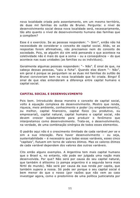 Desenvolvimento, capital social, redes sociais e