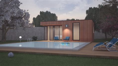 Pool House Contemporain by Pool House Contemporain