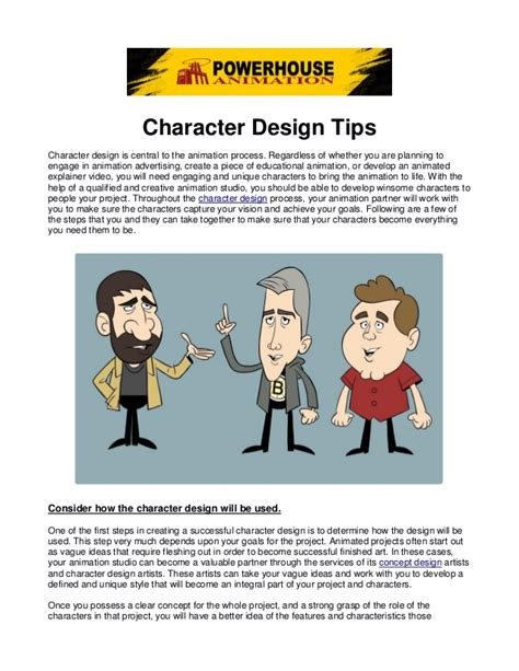 design tips character design tips