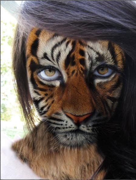 1000+ images about Body Art Big Cat to Photo Project on ... Realistic Tiger Makeup