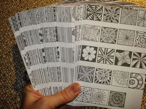 zentangle pattern cards emilyhoutz my tangle tool box and reference cards line