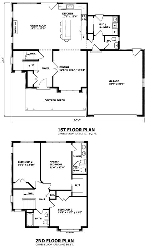 Canadian Home Designs Custom House Plans Stock House Two Storey House Plan With Dimensions