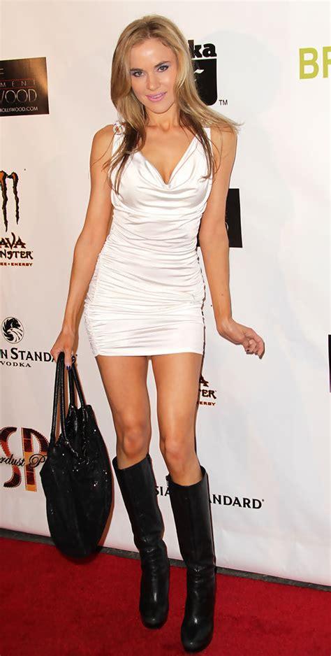 Paula Navy Mc knee high black leather dress boots best dressed