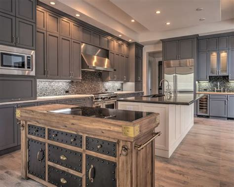 Houzz Kitchen Cabinets by Gray Kitchen Cabinets Houzz