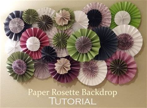 paper flower rosette tutorial how to make a paper rosette backdrop d i y pinterest