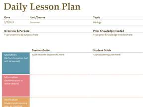 daily lesson plan template printable lesson plan template free to