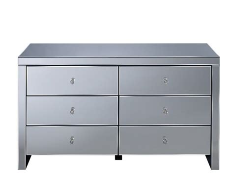 extra large mirrored chest of drawers giralda mirrored 6 drawer wide chest