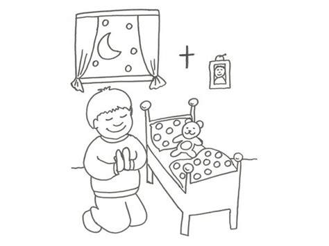 imagenes de ninos rezando para colorear dibujo infantil de un ni 241 o rezando para colorear