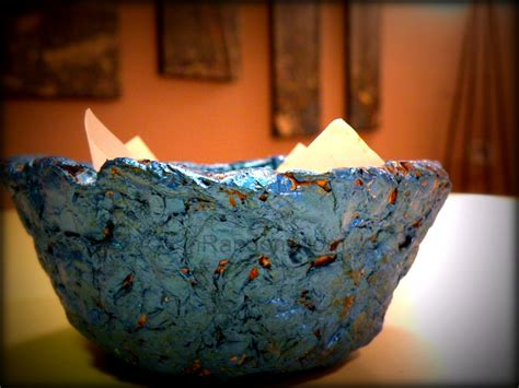 How To Make A Paper Mache Bowl - soup bowl paper mache crafts