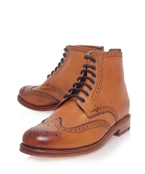 brogue boots for lyst foot the coacher sharp ankle brogue boots in