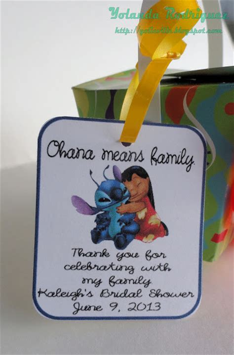 Sticker Nama Cutout Lilo N Stitch yolieville bridal shower favor part 1 lilo and stitch