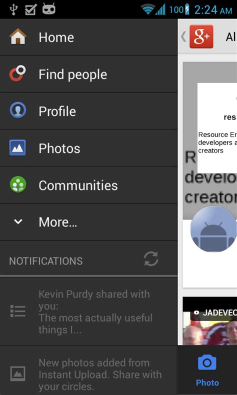 android layout menu exle android google app listview layout with different views