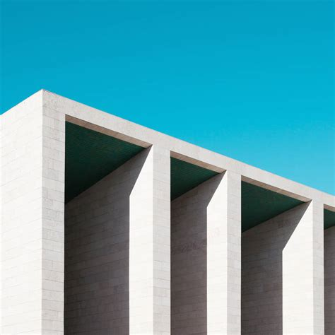 minimal architecture minimalist blue architectural photographs fubiz media