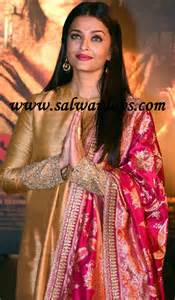 indian salwars and indian fashion aishwarya rai in gold