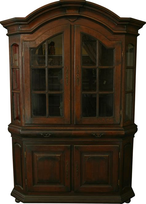 mission oak display cabinet china hutch ebay
