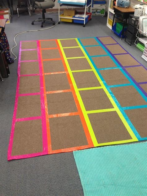rugs classrooms diy classroom management rug i used different color duct classroom organization