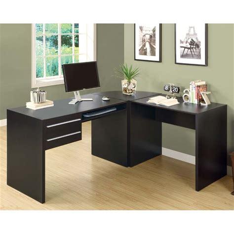 l shaped computer desk in cappuccino i7017 3