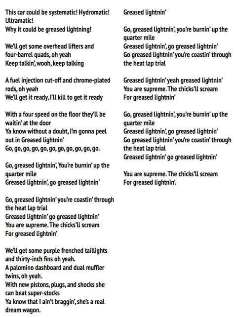 sing along with greaselive song lyrics new york theater