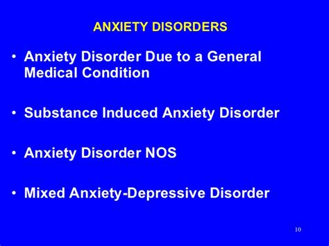 anxiety disorders  adults
