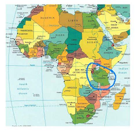 africa map with equator my tanzania