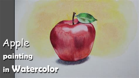 watercolor tutorial apple how to paint an apple with watercolor step by step youtube
