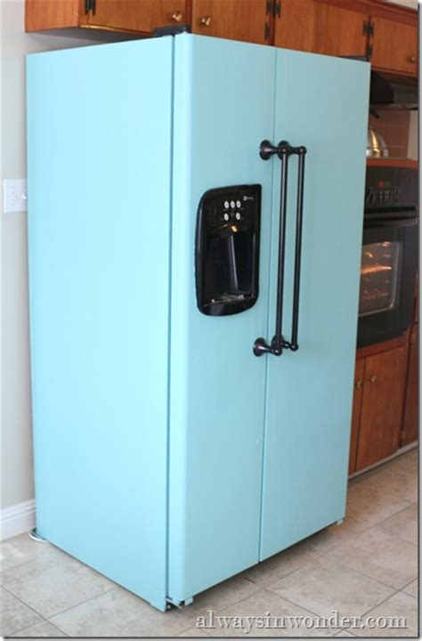 painting kitchen appliances for the home on pinterest aqua paint refrigerator and
