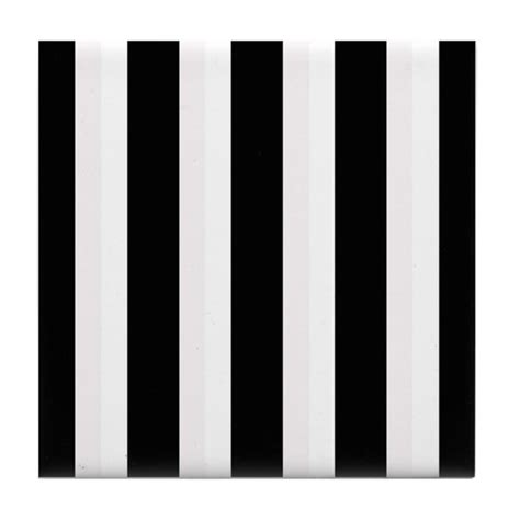 black and white stripes striped class tile coaster by admin cp123180779