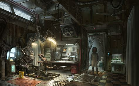 a real world cyberpunk bedroom how accustomed we ve concept art writing prompt black market parlor