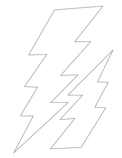 lightning bolt template 17 best images about printables on pages to