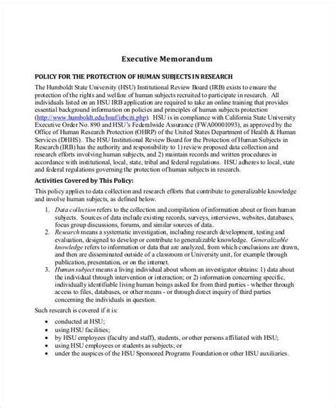 executive memo template executive memo template 10 exles in word pdf