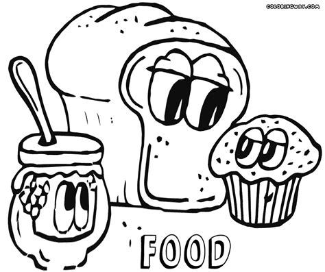 coloring pages of cartoon food cartoon food with faces coloring page coloring pages