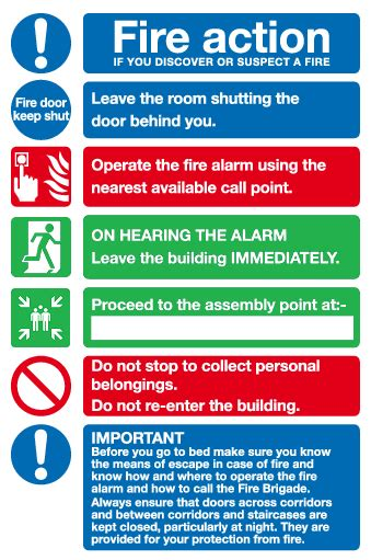 Emergency Fire Evacuation Plan Template