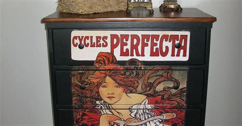 Decoupage Poster To Wood - painted furniture with decoupodge poster hometalk