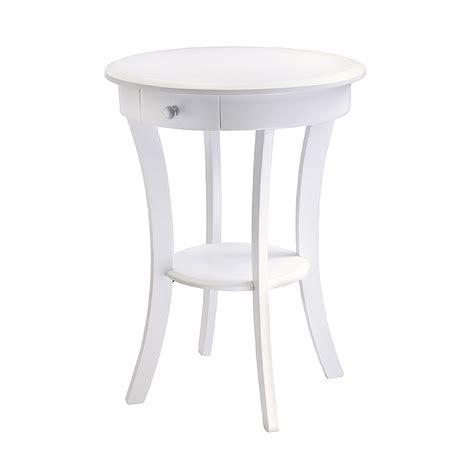 winsome accent table with drawer white 10727
