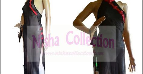 Baju Sopan nisha collection slips gown baju tidur sopan
