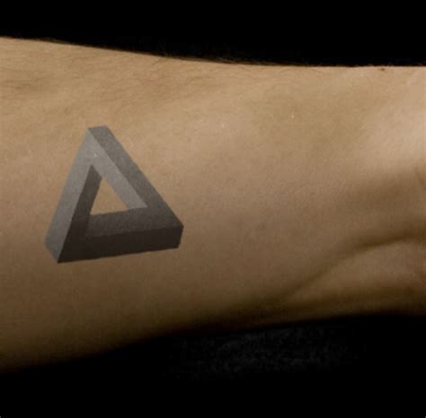 penrose triangle tattoo 43 triangle tattoos on forearm