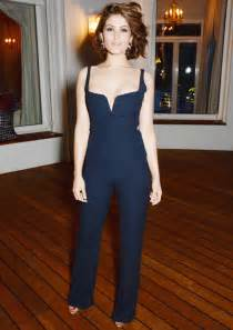 Gemma arterton looks glam in galvan london pantsuit instyle com