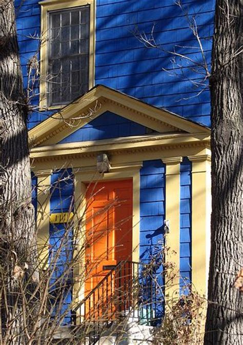 blue house orange door 41 best images about houseboat colors on pinterest