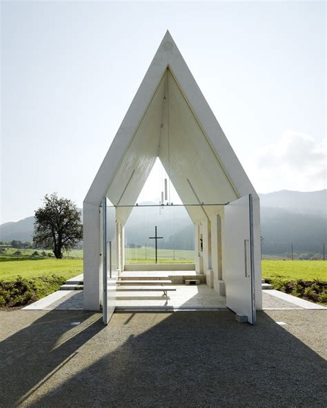 minimalist chapel in clean and modern design