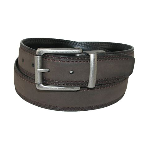 mens leather 1 25 inch reversible belt with roller buckle